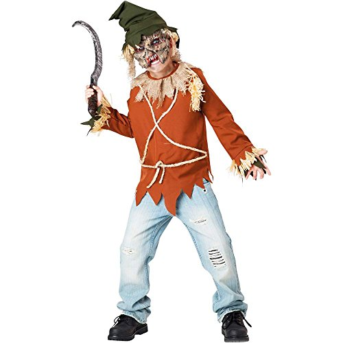 Psycho Scary Scarecrow Kids Costume