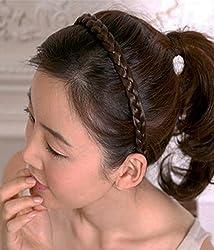 Jewel Touch Special Dark Coffee Braid Hair band hair hoop