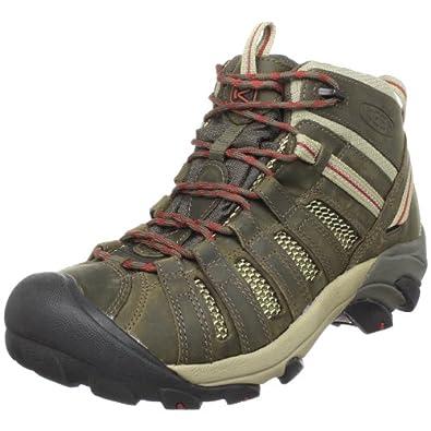 KEEN Men's Voyageur Mid Hiking Boot,Black Olive/Bossa Nova,9 M US