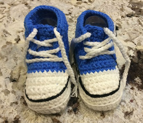 Be You Crochet Baby Tennis Shoes (3 (6-9 months), Big Boy ...