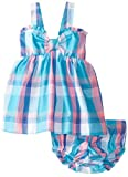Hartstrings Baby Girls' Yarn Dyed Plaid Dress with Matching Diaper Cover