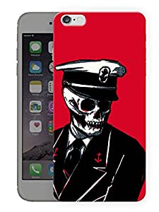 "Humor Gang Captain Skully Printed Designer Mobile Back Cover For ""Apple Iphone 7"" (3D, Matte Finish, Premium Quality, Protective Snap On Slim Hard Phone Case, Multi Color)"