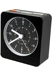 MARATHON CL030053BK Analog Desk Alarm Clock With Auto-Night Light - Batteries Included