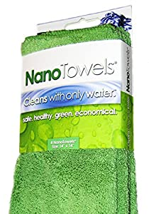 Nano Towels The #1 Best Selling Eco Friendly Chemical Free Cleaner. The Breakthrough New Fabric Technology That Cleans with Only Water, Replaces Expensive Paper Towels, Sponges, Cleaning Cloths, Wipes, Microfiber Cloth and Toxic Chemical Cleaners, & Can H