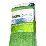 Nano Towels The #1 Best Selling Eco Friendly Chemical Free Cleaner. As Seen On TV! The Breakthrough New Fabric Technology That Cleans with Only Water, Replaces Expensive Paper Towels, Sponges, Cleaning Cloths, Wipes, Microfiber Cloth and Toxic Chemical Cleaners, & Can Help You Save Hundreds of Dollars Per Year While Making Your Home Safer, Healthier and Greener For Kids & Babies. Use As Bath Towels, Kitchen Towels and Dish Towels. 14x14