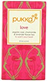 Love Pukka Organic Herbal Tea Pack of 20 Sachets Caffeine FREE Tea bags (With 2 sachets of our best seller of the month Pukka tea bags FREE)