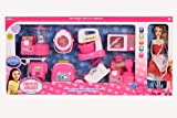 Smiles Creation Beauty Fashion girl doll set with 3 outfits,accessories, wardrobe, kitchen set, and glitzy .