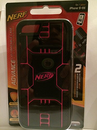 Nerf Advance Customizable Case for Iphone 5/5s Pink and Black - 1