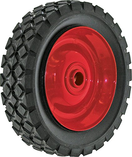Shepherd Hardware 9589 6-Inch Semi-Pneumatic Rubber Tire, Steel Hub, Diamond Tread, 1/2-Inch Offset Axle Diameter