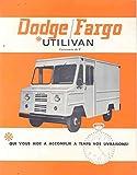 1965 Dodge Fargo Utilivan Truck Brochure French Canada