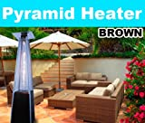 New MTN Deluxe Pyramid Outdoor Patio Flame Gas Propone Heater 40000 BTU Brown