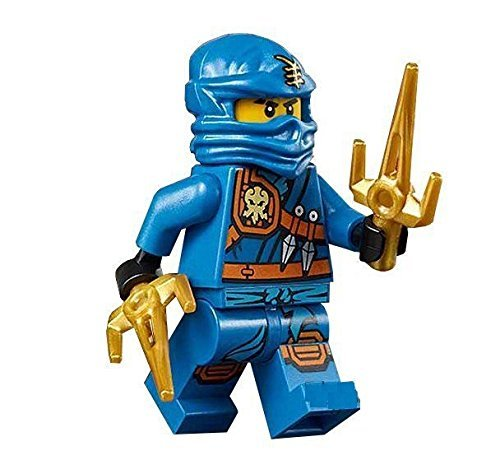 LEGO Ninjago Minifigure - Jay Zukin Robe Jungle Blue Ninja with Dual Gold Sai (70749) - 1