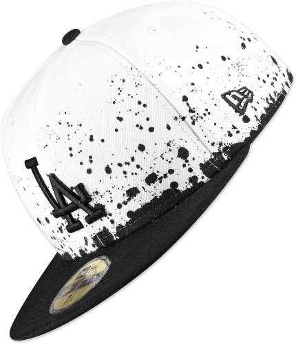 New Era Panel Splatter LA Dodgers Cappellino 7 1/4 white/black