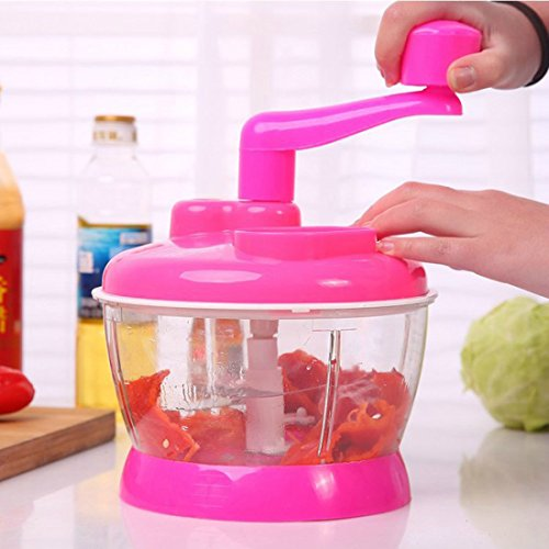 Food Chopper,ONEOENY Hand Powered Food Processor, Mixer, Spinner,Slicer,Dicer (red1) (Blender Food Processor Slicer compare prices)