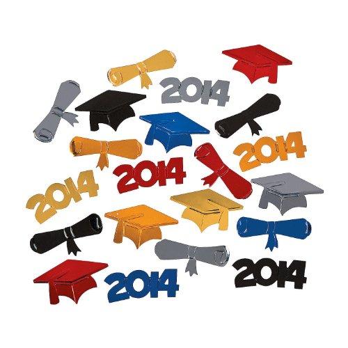 "Multi-color Metallic Foil ""2014"" Graduation Confetti - Party Supplies"