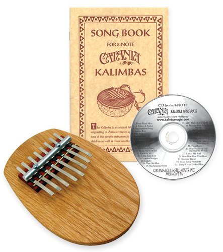 8-note Board Piano Kalimba Set with Songbook and CD