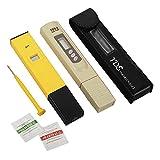 XCSOURCE pH-Mètre + Testeur TDS Professionnel, Combo de Haute précision ±0.1ph de pH Mètre et précision ±2% de Testeur TDS BI334