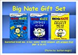 Lincoln Peirce BIG NATE BOX / GIFT SET - Set includes 3 books: 1. Big Nate 1 Boredom Buster 2.Big Nate Strikes Again 3.Big Nate The Boy with the Biggest Head in the World *** GIFT-WRAPPED FREE, Brand New, Sealed Box, Well-Packaged *** RRP: £16.97