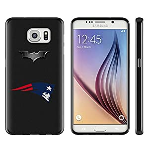 Football and Batman style Samsung Galaxy S7 Case Black,Soft Glossy TPU Rubber Galaxy S7 Cover with S7 Tempered Glass Screen Protector at Gotham City Store