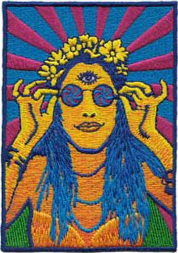 Application Psychedelic Hippy Chick Patch