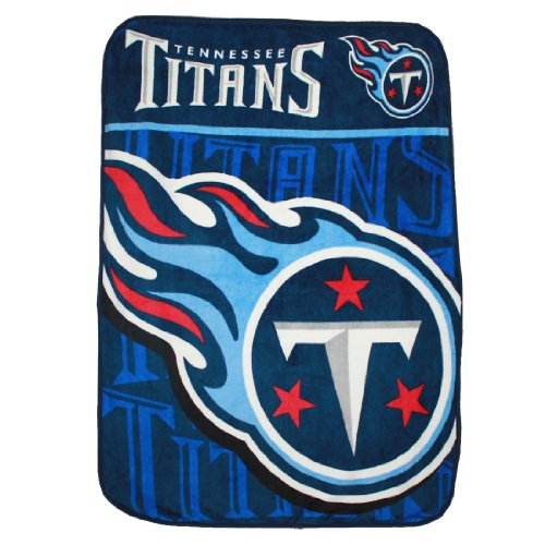 NFL Tennessee Titans Soft Plush Thermal Blanket / Fleece Couch Throw - 1