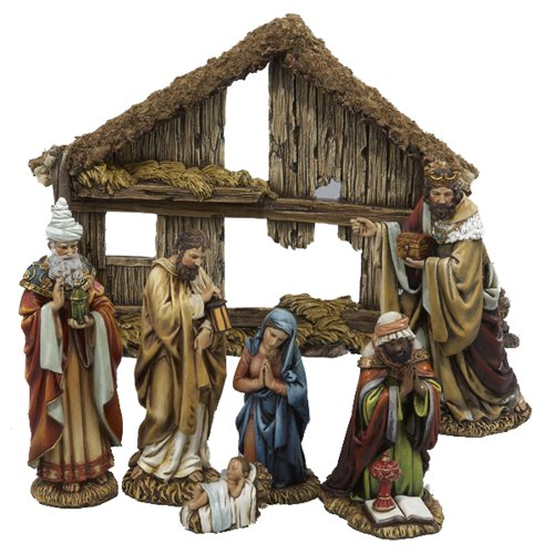 Kurt Adler 6-Inch 7-Piece Resin Nativity Set