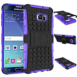 Chevron Hybrid Military Grade Armor Kick Stand Back Cover Case for Samsung Galaxy Note 5 (Purple)