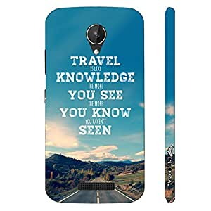 Micromax Canvas Spark Q380 Travel is Knowledge designer mobile hard shell case by Enthopia