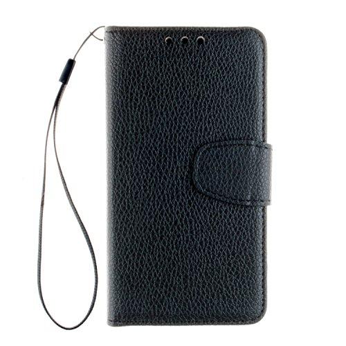 Cozy Hut Samsung Galaxy Alpha G850F Bookstyle Étui Noir Housse en Cuir Case à rabat pour Samsung Galaxy Alpha G850F Coque de protection Portefeuille