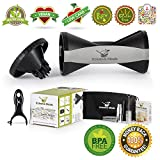 Xclusive Meals 4 Blade Vegetable Spiralizer - Zucchini Spaguetti Noodle Maker - Spiral Vegetable Slicer for Paleo Healthy Eating - Premium Complete Bundle + 4 free recipe eBooks