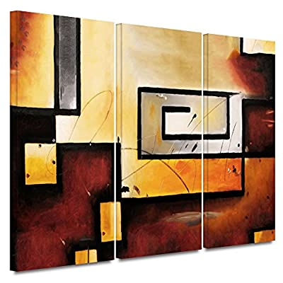 Art Wall 0mor101c2436w 3-Piece Jim Morana 'Abstract Modern' Gallery-Wrapped Canvas Artwork, 24 by 36-Inch