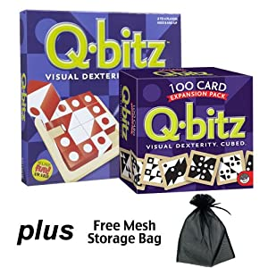 Q-Bitz Deluxe, includes both Q-Bitz and the Q-Bitz Expansion Pack with Free Storage Bag
