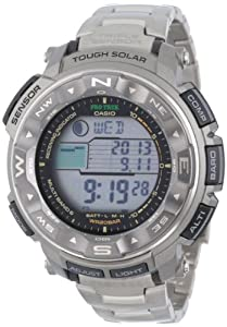 Casio Men's PRW2500T-7CR Pathfinder Triple Sensor Tough Solar Digital Multi-Function Titanium Pathfinder Watch