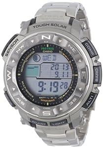 (高端)Casio卡西欧PRW2500T-7CR钛合金六局电波登山表Triple Sensor $275.56