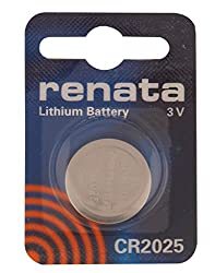 Renata Swiss Made CR2025 3V Lithium Button Coin Cell Battery (2 Pieces)