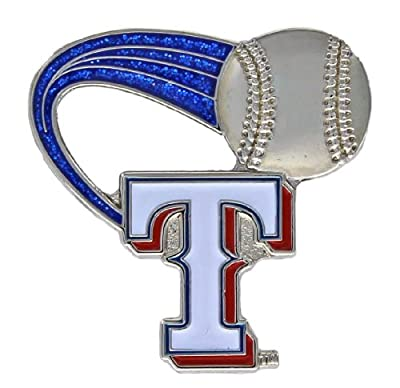 MLB Texas Rangers Glitter Trail Pin