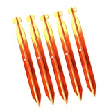 Generic 5pcs Golden Outdoor Camping Hiking Awning Tent Sand Pegs Stakes