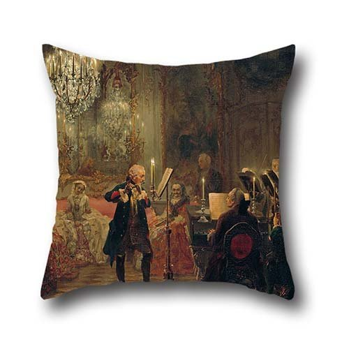 Oil Painting Adolph Menzel - Flötenkonzert Friedrichs Des Großen In Sanssouci Pillow Shams 16 X 16 Inches / 40 By 40 Cm Gift Or Decor For Dining Room,couch,teens Girls,bf,shop,birthday - Twin Sides (Killer Bunnies Quest Green compare prices)