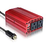 BESTEK® 300W Dual 110V AC Outlets Power Inverter Car DC 12V to 110V AC Inverter with Dual USB Charging Ports for Smartphones and Tablets