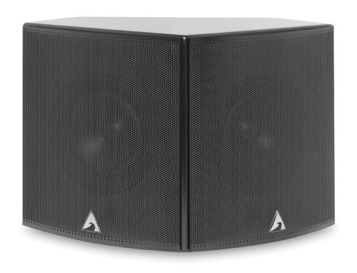 Atlantic Technology 1400Srz-P-Blk Dipole-Bipole Surround Speakers (Pair, Black)