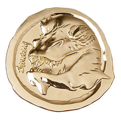 Monnaie à collectionner Le Hobbit motif dragon Smaug - 4/14 - La Bataille des Cinq Armées - doré - Ø 4,7 cm