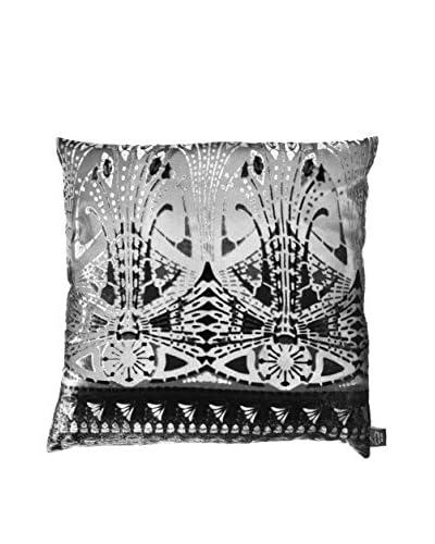 Aviva Stanoff Printed Cut Velvet Pillow, Black/Sage