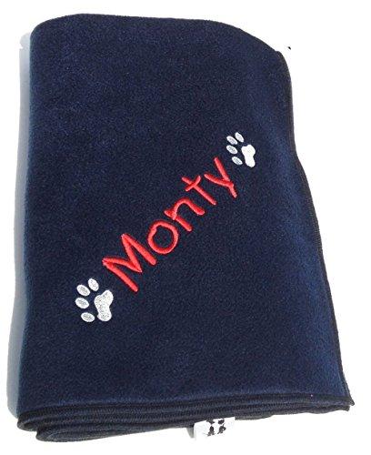 Cosy-Paw-Hundedecke-mit-Personalisierung-90-x-70-cm-Marineblau-Fr-die-Personalisierung-der-Decke-bitte-den-Namen-bzw-das-gewnschte-Wort-per-Geschenkmitteilungsfeld-mitteilen-Dieses-ist-auf-der-Kaufabw