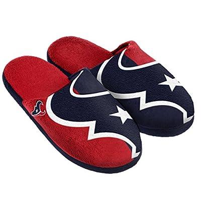 NFL Houston Texans Split Color Slide Slipper, X-Large, Blue