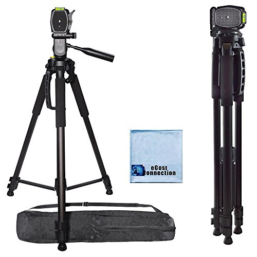 72 Inch Elite Series Professional, Full Size Camera Tripod for Canon, Nikon, Sony, Samsung, Olympus, Panasonic & Pentax + eCost Microfiber Cloth (Tri Pod Feet compare prices)