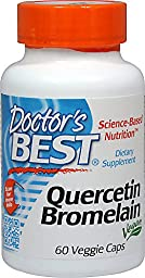 Doctor\'s Best - Quercetin Bromelain Vegan Circulatory Support - 60 Vegetarian Capsules