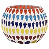 Eshoppingportal's Mosaic Style Multi Colored Candle Holder