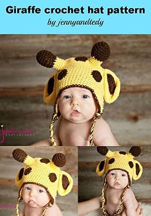 Crochet Giraffe Hat Pattern For Dogs : crochet pattern giraffe hat size newborn-3 month - Kindle ...