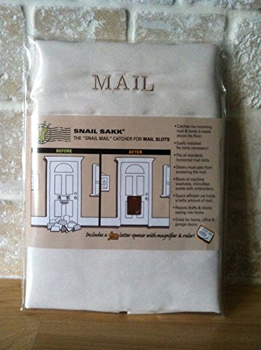 SNAIL SAKK: Mail Catcher for Mail Slots - CREAM (Garage Mail Bag compare prices)