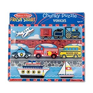 Melissa & Doug Vehicles Chunky Wooden Puzzle